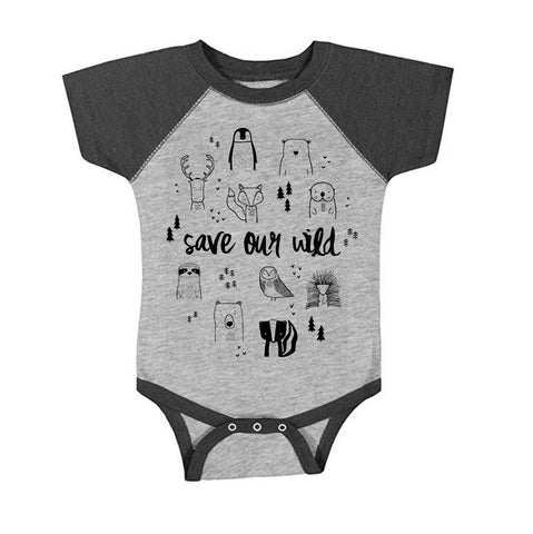 Save Our Wild Baby One Piece by The Wild - thewildkidsapparel.com