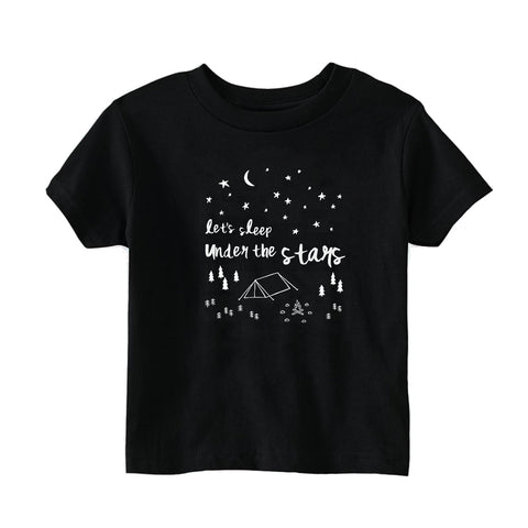 Let's Sleep Under the Stars Kids T-Shirt by thewildkidsapparel.com