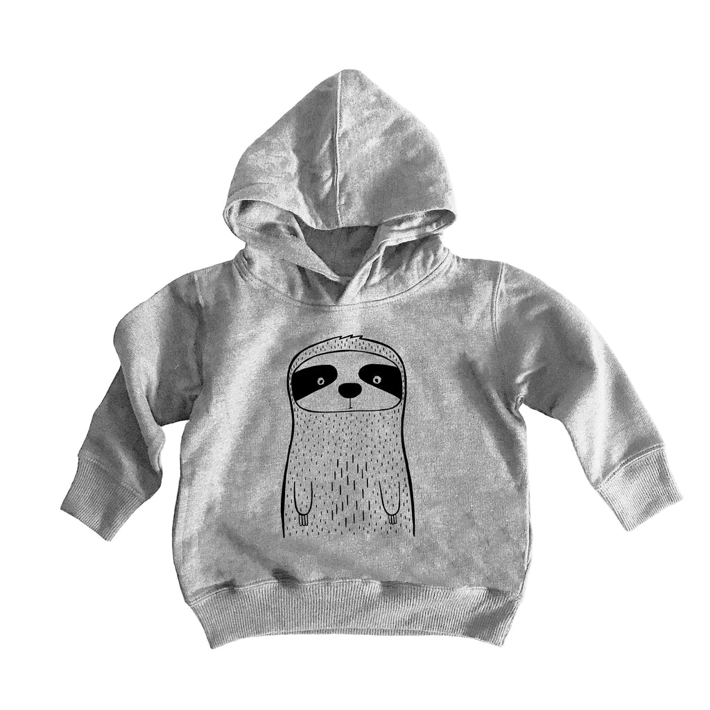 Seymour the Sloth Handprinted Hooded Sweater by The Wild - thewildkidsapparel.com