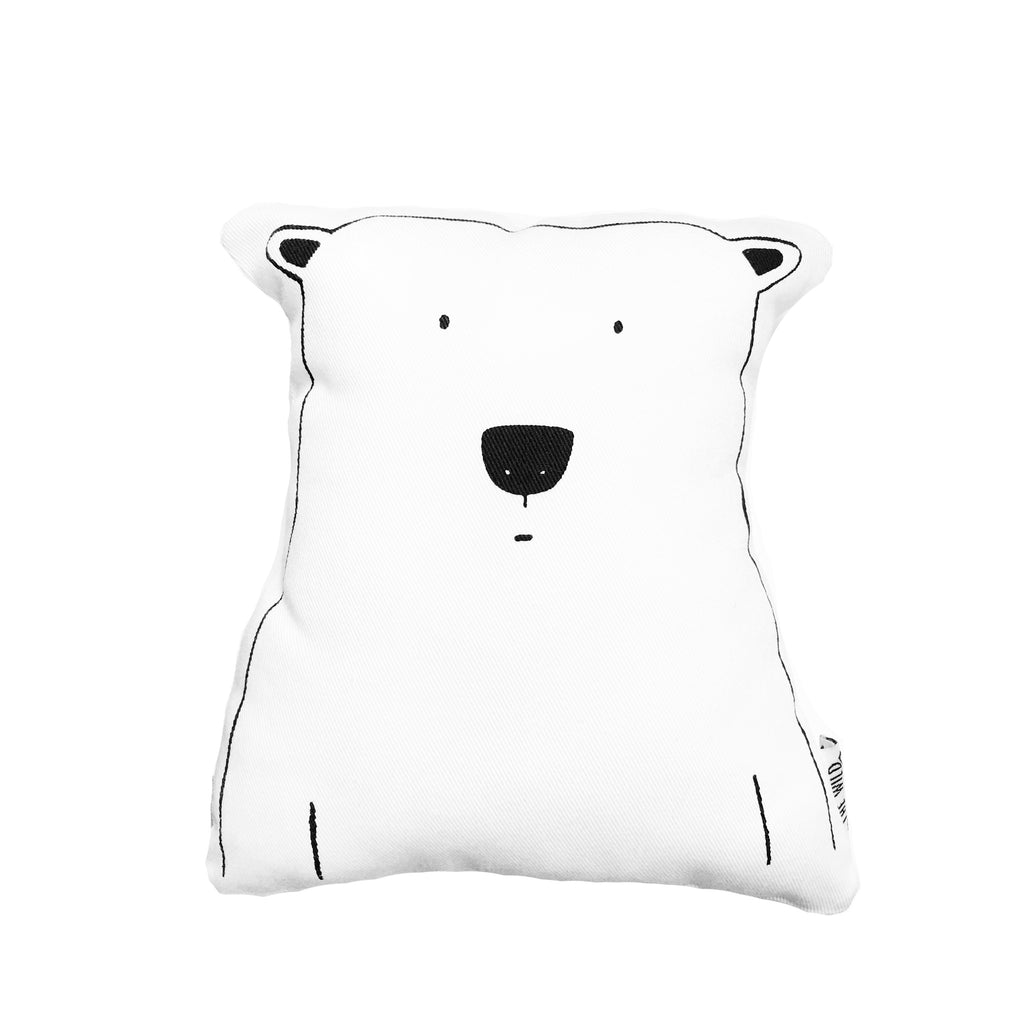 Percy the Polar Bear Soft Toy Pillow by The Wild