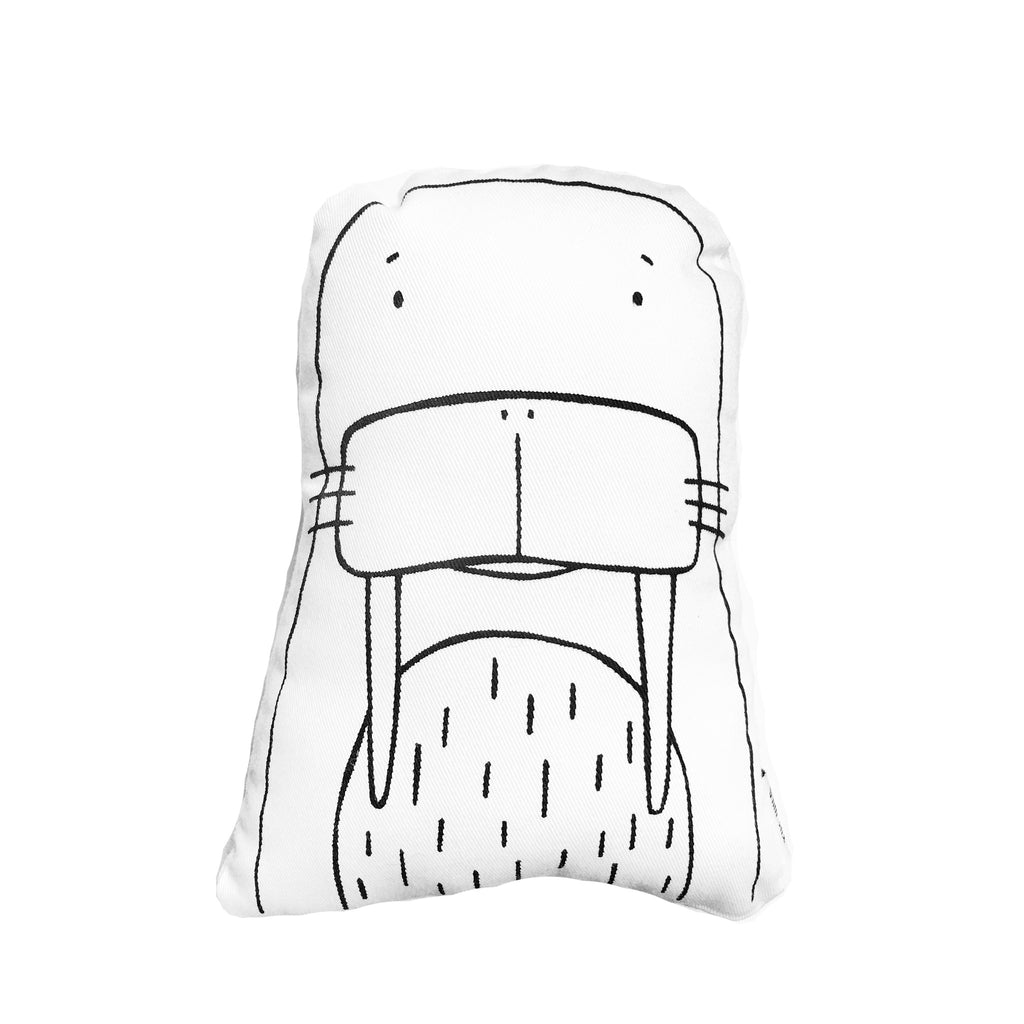 William the Walrus Soft Toy Pillow by The Wild