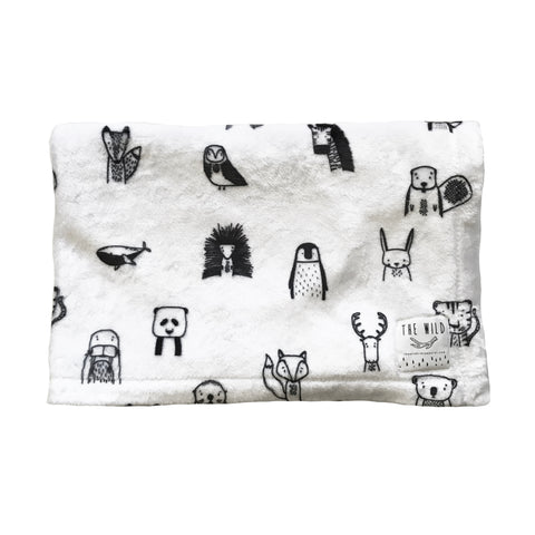 Modern Animal BabyBlanket by The Wild - thewildkidsapparel.com