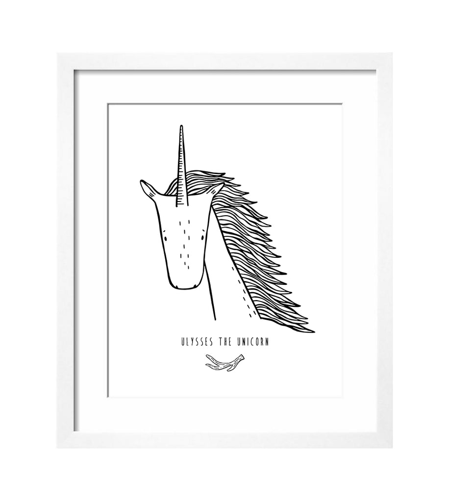 Ulysses the Unicorn Art Print by The Wild - thewildkidsapparel.com