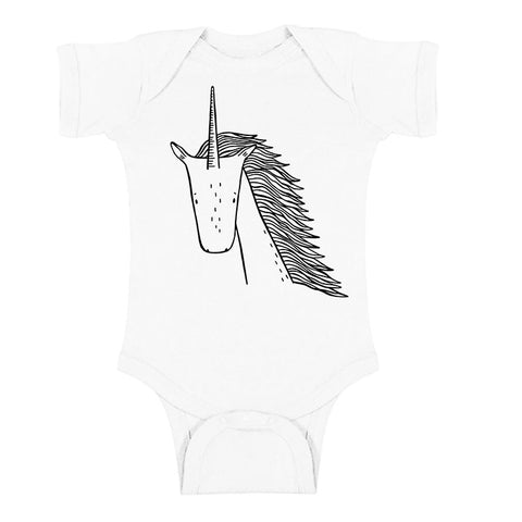 Ulysses the Unicorn Short Sleeve Baby Onesie by thewildkidsapparel.com