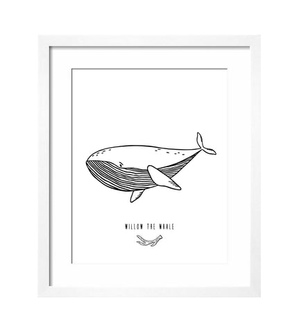 Willow the Whale Art Print by The Wild - thewildkidsapparel.com