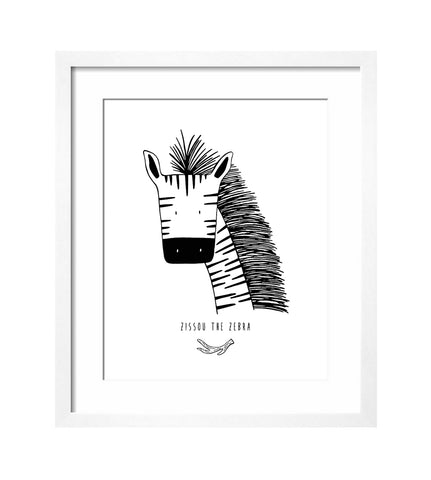 Modern Art Print for Baby Nursery or Kids Room by The Wild