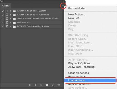PHOTOSHOP - How to install Photoshop Actions – True Grit