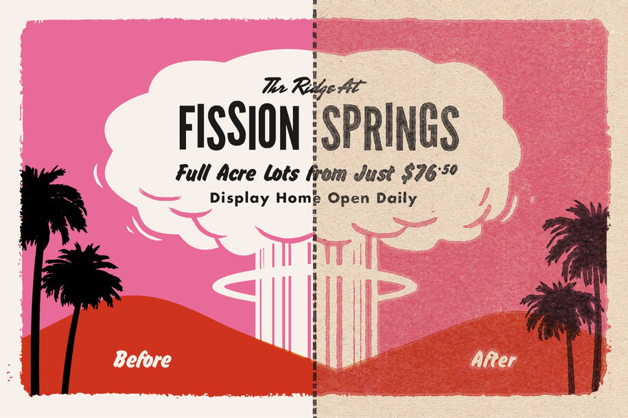 ATOMICA: Mid Century Print Effects Kit For Photoshop – True