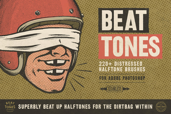 BEAT-TONE Distressed Halftone Brushes