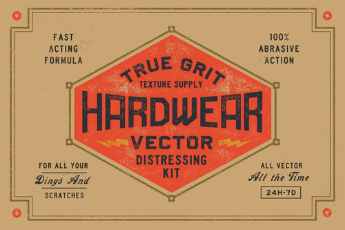 HARDWEAR Vector Distressing Kit For Illustrator