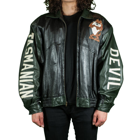 Tasmanian Devil Vintage Leather Jacket
