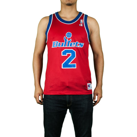 Washington Bullets Chris Webber Vintage Champion Jersey
