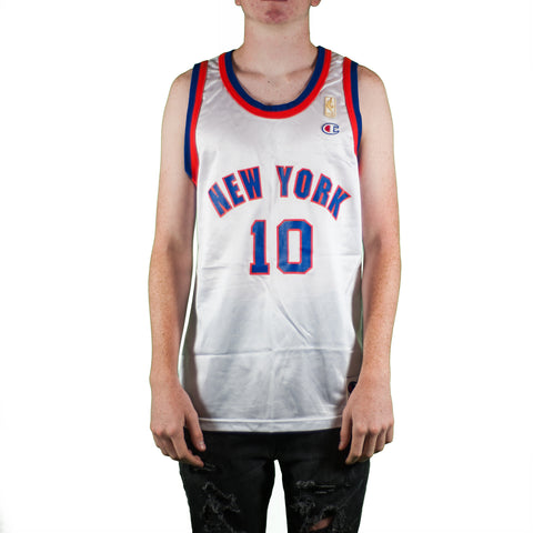 New York Knicks Walt Frazier Vintage Champion Jersey
