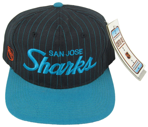 SAN JOSE SHARKS VINTAGE SPORTS SPECIALTIES SCRIPT SNAPBACK HAT