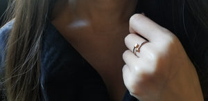 Stacker jewellery, rose gold ring