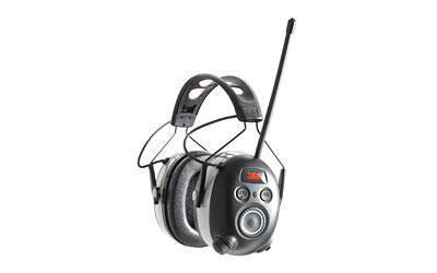 3M/Peltor WorkTunes Wireless Hearing Protector with Bluetooth, AM/FM Radio, Black 90542-3DC