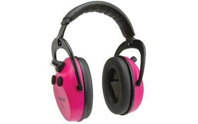 Allen Axion Electronic Lo-Profile Earmuff, Orchid, NRR 25 Rated, Meets ANSI S3.19 and CE EN352 Requirments, Quad Microphone Stero Sound, Memory Foam Padded Ear Cup, Requires 2 AAA Batteries (Not Included) 2232