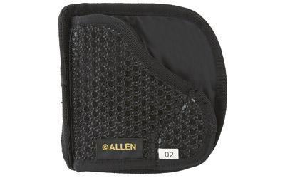 Allen Baseline In The Pocket Holster, Ambidextrous, Black Tacky Fabric, Fits Small Semi-automatic Pistols 44202