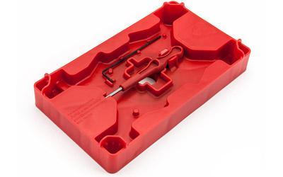 Apex Tactical Specialties Armorers Tray & Pin Punch, Polymer, Red 104-110