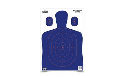 Birchwood Casey Dirty Bird 16.5 x 24 inch BC-27 BlueOrange Silhouette Target, 3 Targets