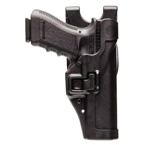 BlackHawk Level 2 Duty SERPA Belt Holster, Fits Glock 17 19 22 23 31 32, Right Hand, Black