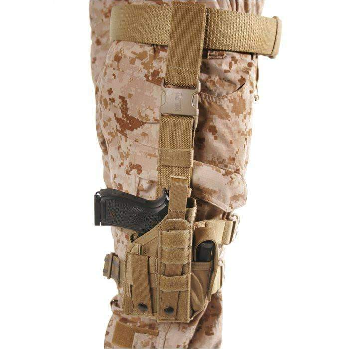 BlackHawk Omega VI Ultra Holster, Universal Sidearm Fit Equipped With Light or Laser, Ambidextrous, Coyote Tan