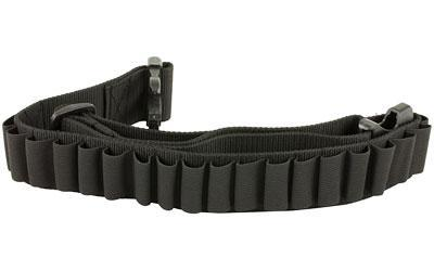 Bulldog Cases Adjustable Cartridge Belt for Shotgun Shells, Black WABS