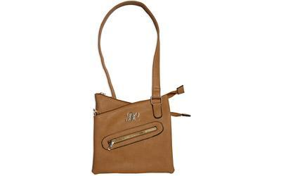 Bulldog Cases Cross Body Style Purse, Leather, Universal Fit Holster Included, Tan Finish BDP-032