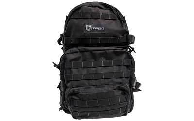 "Drago Gear Assault Backpack, 20""x15""x13"", Black 14-302BL"