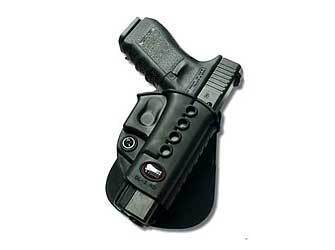 Fobus E2 Paddle Holster, Fits Glock 17/19/22/23/31/32/34/35, Right Hand, Kydex, Black GL2E2