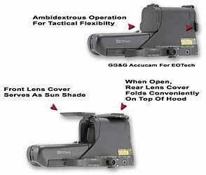 GG&G, Inc. Scopecover, Fits EOTech 512/552, Flip Lens Cover, Black GGG-1275