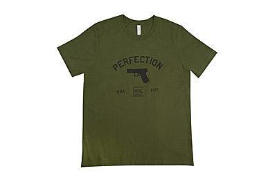 Glock OEM Perfection Pistol T-Shirt, Short Sleeve, S, Olive Drab AA68140