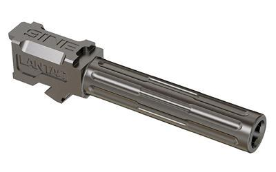 LanTac USA LLC 9INE, Barrel, 9MM, Stainless, 1:10, Fluted, Fits Glock 19 01-GB-G19-NTH-SS