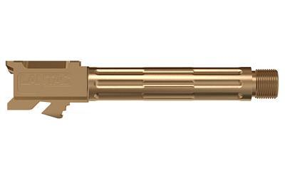 LanTac USA LLC 9INE, Barrel, Bronze, Threaded Barrel, 1:10, Fluted, Fits Glock 19 01-GB-G19-TH-BRNZ