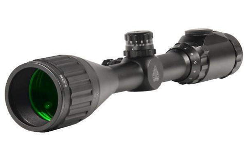 Leapers, Inc. - UTG Hunter Rifle Scope, 3-9 x 50, 1 inch, 36-Color Mil-Dot Reticle, with Rings, Black Finish