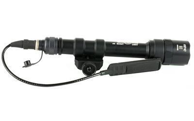 Surefire Scout Light, Weaponlight, 200 Lumens, M75 Thumb Screw Mount, Z68 Click OnOff TailCap & UE07 Tape Switch, Black Finish