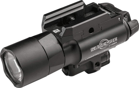 Surefire X400 LED Weaponlight and Laser, Pistol, 500 Lumens, White Light Output with Red Laser, Picatinny, Black