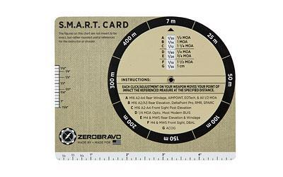 ZeroBravo S.M.A.R.T. Card (Simple Marksman Adjustment Reference Table) SC0816