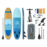 Retrospec Weekender Blue Wood Grain Paddleboard