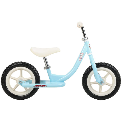 Retrospec Cub Balance Bike Powder Blue and White
