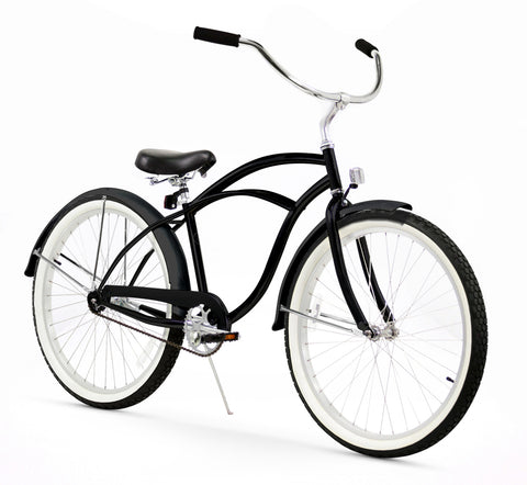 Matte Black Firmstrong Beach Cruiser (Men's)