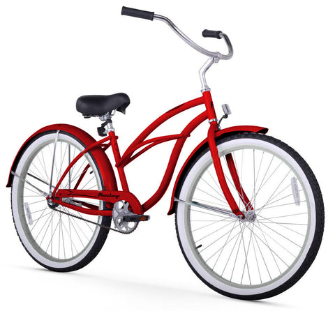 Red Firmstrong Beach Cruiser