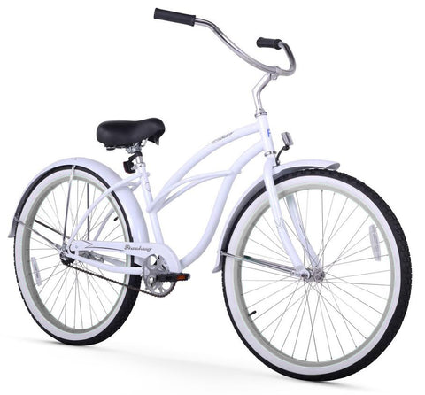 White Firmstrong Beach Cruiser