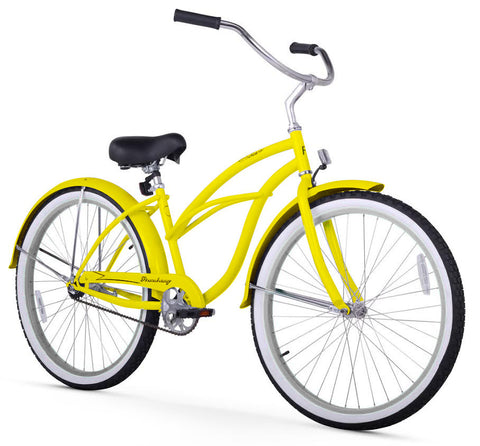 Yellow Firmstrong Beach Cruiser