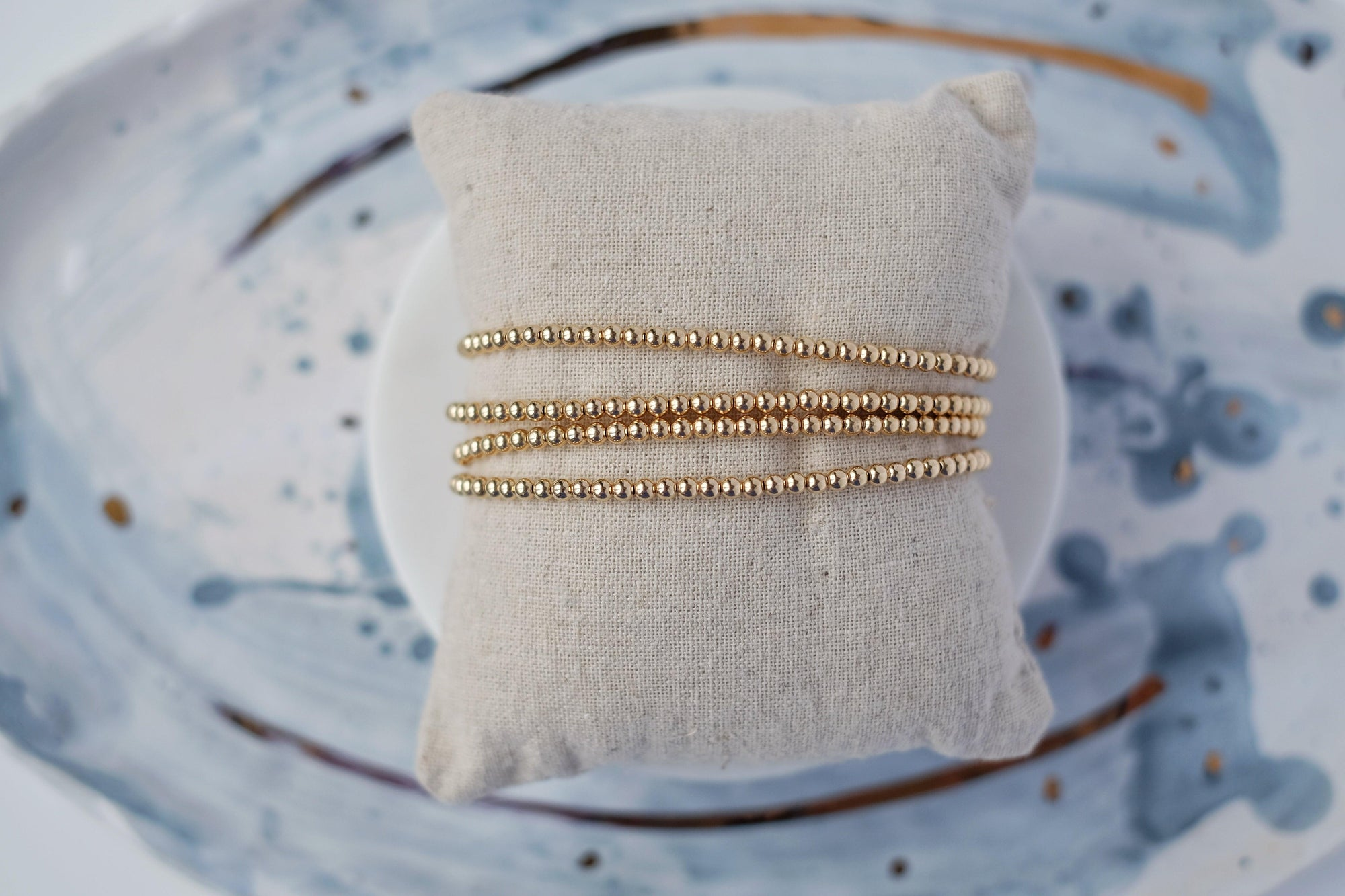 3mm Gold Filled Ball Bracelet