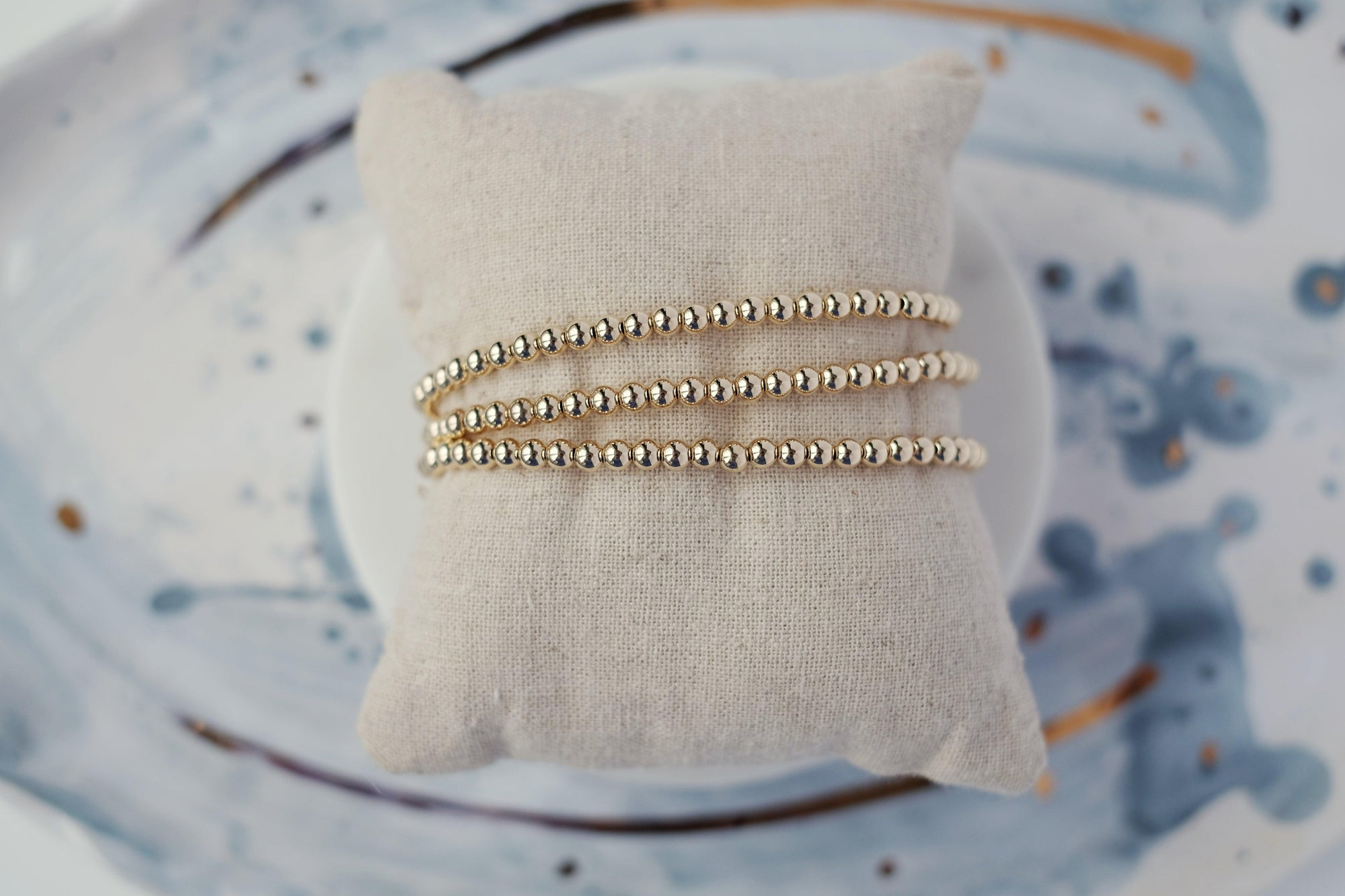4mm Gold Ball Stretch Bracelet