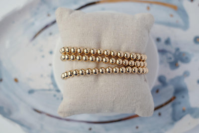 6mm Gold Filled Ball Bracelet