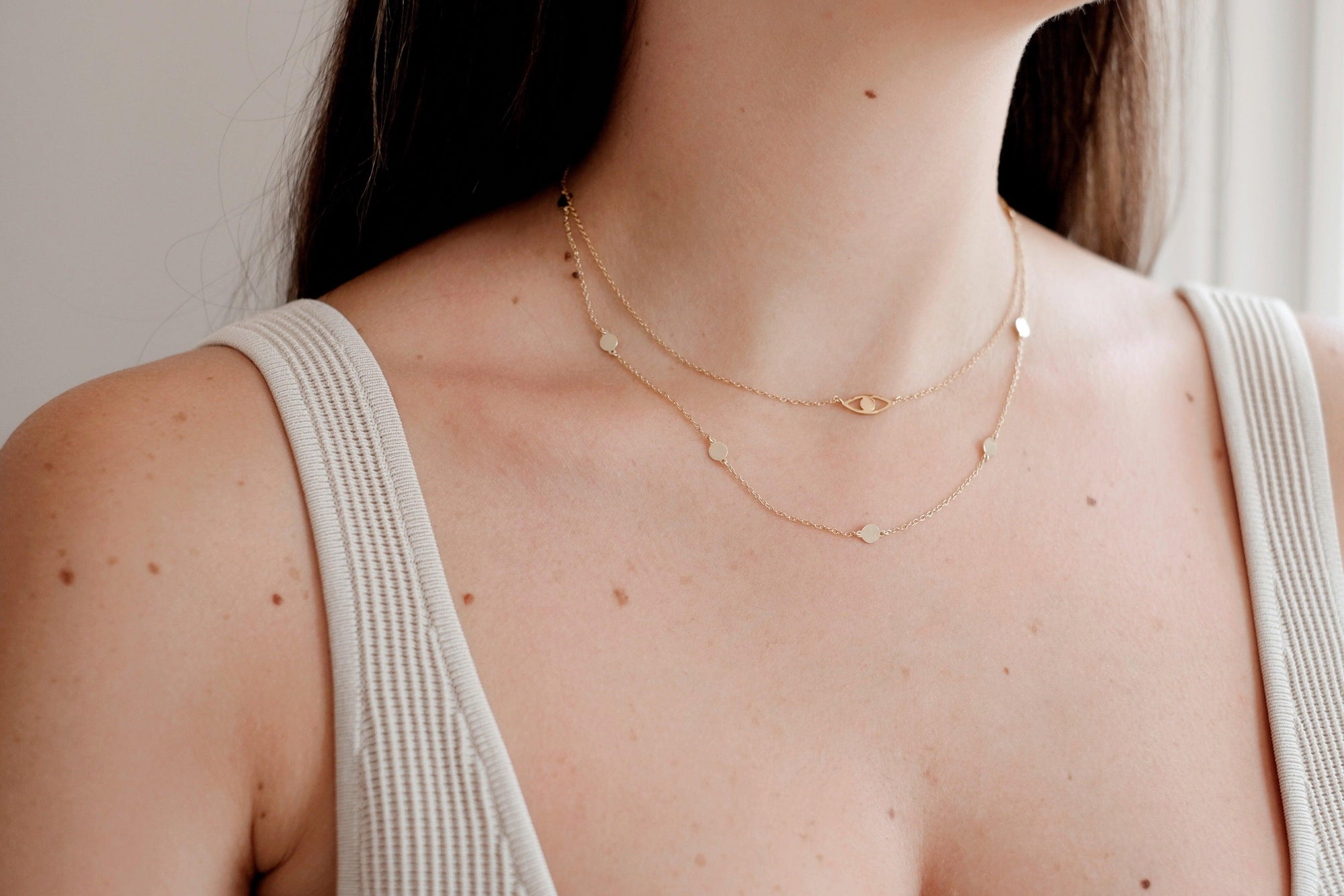 Gold Polka Dot Necklace