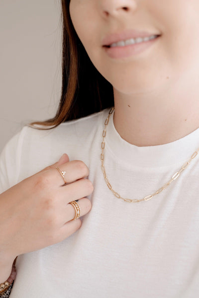 Statement Gold Link Necklace