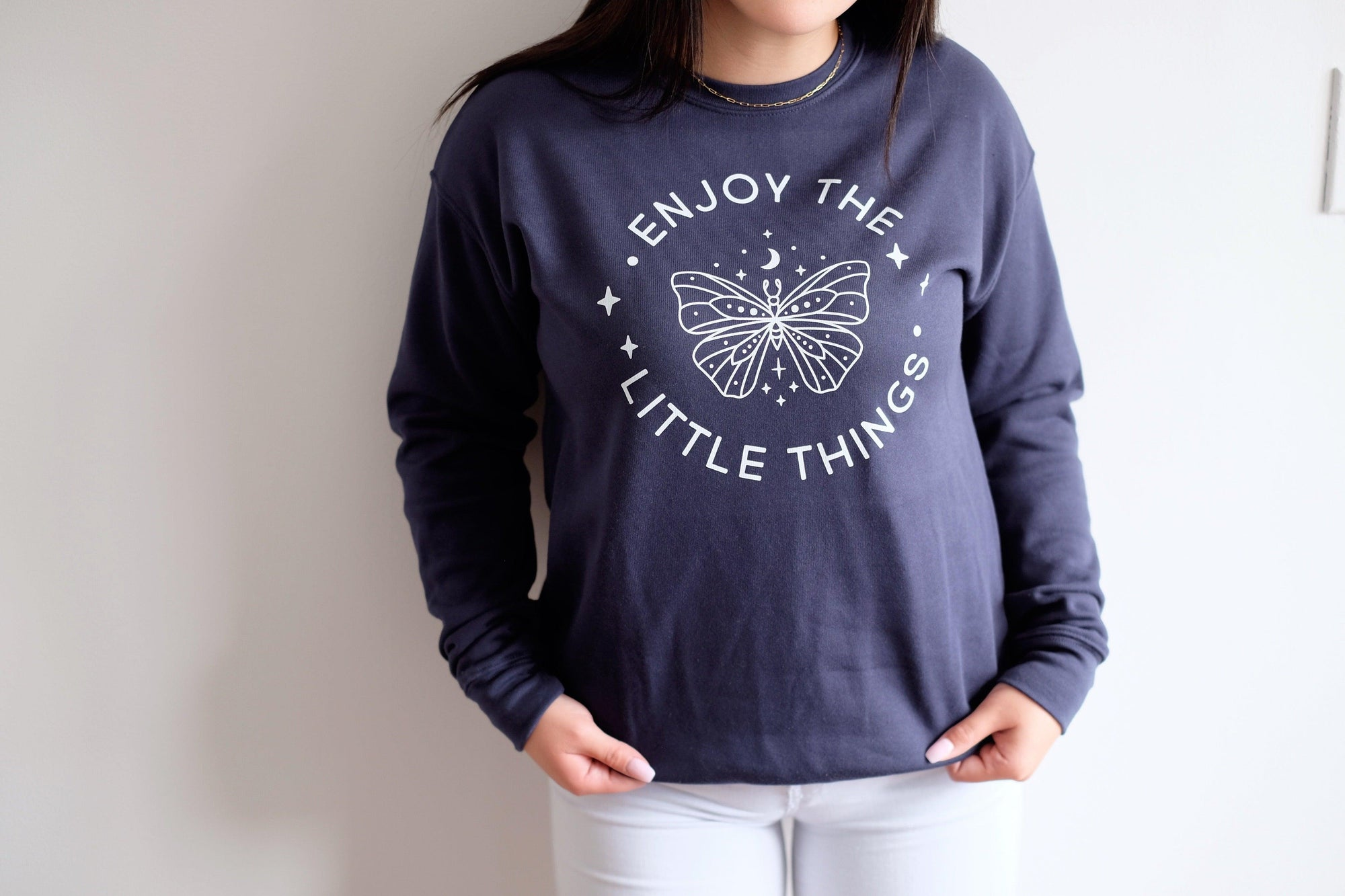 Enjoy The Little Things Crewneck Sweater